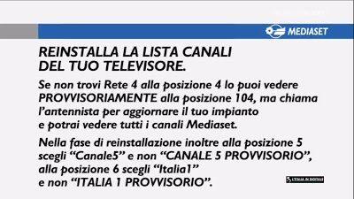 Canali Tv Mediaset a Meldola: cosa è successo ?
