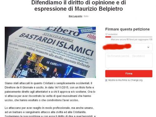 2 petizioni su change.org