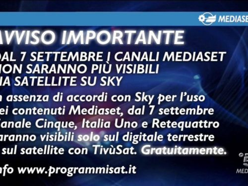 Mediaset criptato sulla piattaforma Sky ….